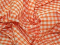 Gingham 1/4inch checks - Orange - per quarter metre